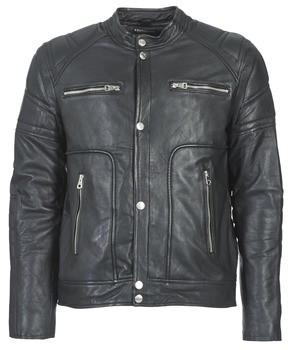 Redskins MONTANA men's Leather jacket in Black