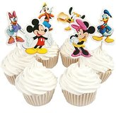 BETOP HOUSE Set of 24 Pieces Cute Round Minnie Mickey Mouse Dessert Muffin Cupcake Toppers for Picnic Wedding Baby Shower Birthday Party Server by BETOP HOUSE