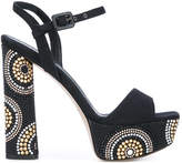 Le Silla studded block heel sandals