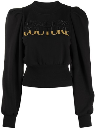 Versace Jeans Couture Embroidered Logo Structured Sweatshirt