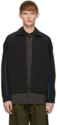 Unravel Black and Blue Technical Long Sleeve Shirt