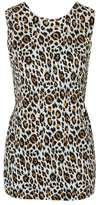 Topshop Animal print twist back top