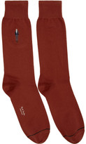 Paul Smith Red Embroidered Paul Socks