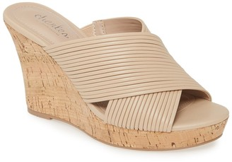 Charles by Charles David Linger Cork Wedge Sandal