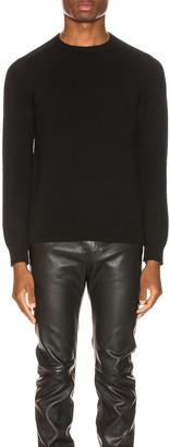 Saint Laurent Cashmere Sweater in Black | FWRD