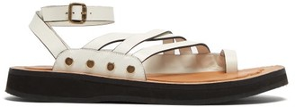 Loewe Paula's Ibiza - Chunky-sole Leather Sandals - White