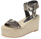 Vince Abby Embossed Leather Platform Espadrille