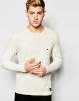 !solid Lightweight Knitted Jumper With Fleck