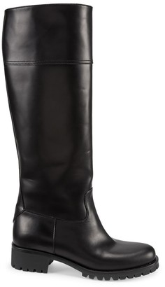 Prada Tall Leather Riding Boots