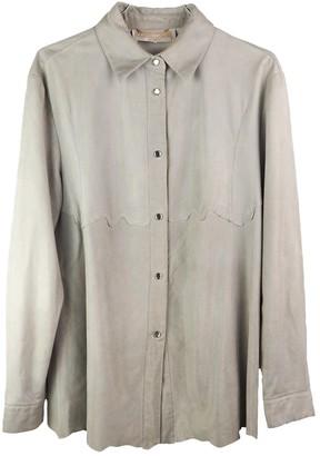 Roberto Cavalli Grey Leather Top for Women