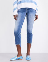 7 For All Mankind Roxanne stepped-hem slim mid-rise jeans