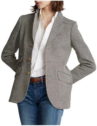 Polo Ralph Lauren Herringbone Silk-Blend Blazer