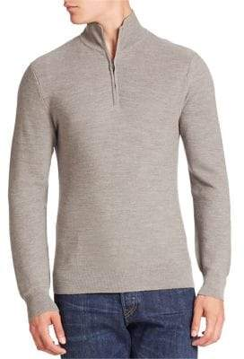 Ralph Lauren Purple Label Zip-Front Cashmere Blend Cardigan