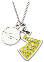 "Pokemon Poké Ball & Pikachu Tail Stainless Steel and Gem Pendant with Chain (18"" + 2"" ext.)"