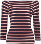 Vero Moda Yeng bardot neckline 3/4 sleeve striped top