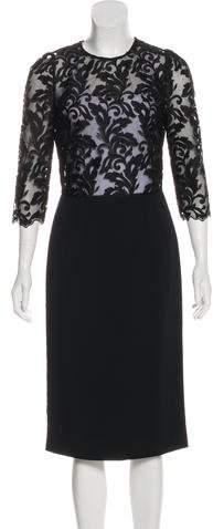 Dolce & Gabbana Embroidered Midi Dress w/ Tags