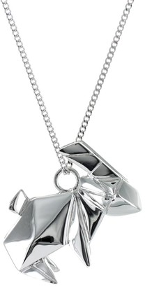 Origami Jewellery Rabbit Necklace Sterling Silver