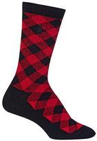 Ralph Lauren Cashmere Buffalo Check Boot Sock