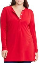 Lauren Ralph Lauren Plus Jersey Henley Tunic