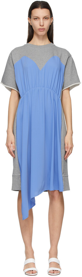 MM6 MAISON MARGIELA Blue & Grey Overlay Dress