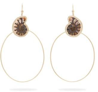 Jacquie Aiche Ammonite, Gold & Diamond Earrings - Blue