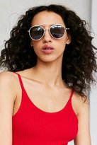 Urban Outfitters Slim Round Brow Bar Sunglasses