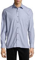 Ike Behar Patterned Sport Shirt, Gray