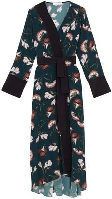 Ethereal London Sakura Print Kimono Midi Dress