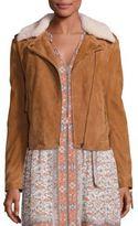 Joie Paulette Shearling Moto Jacket