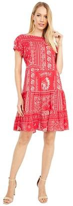 Double D Ranchwear Picnic Bandana Dress (Rodeo Red) Women's Clothing