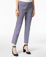 Tommy Hilfiger Printed Ankle Pants, Created for Macy's