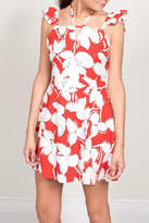 J.o.a. Red Floral Print Dress