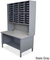 Marvel 40-slot Shelved Riser Mailroom Organizer Cabinet