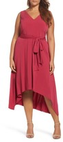 Vince Camuto Plus Size Women's Asymmetrical Belted Dress