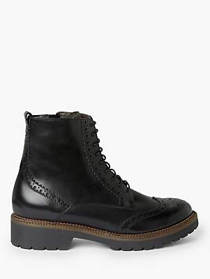 John Lewis & Partners Perera Leather Brogue Ankle Boots