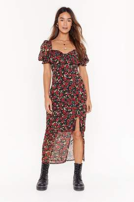 Nasty Gal Womens Sky Full of Song Floral Cupped Dress - black - 4