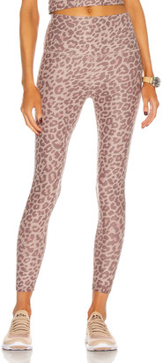 Beyond Yoga Spacedye Printed Caught In The Midi High Waisted Legging in Chai Cocoa Brown Leopard | FWRD