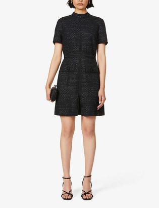 Reiss Jenny woven mini dress