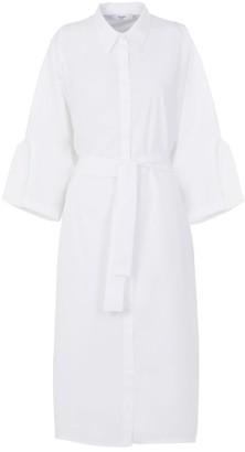 A Line Clothing White Long Shirt Dress