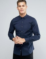 Replay Slim Fit Shirt Point Collar
