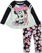 "Disney Baby Girls' Minnie Mouse Tunic and Leggings Set - ""Whatevs"""