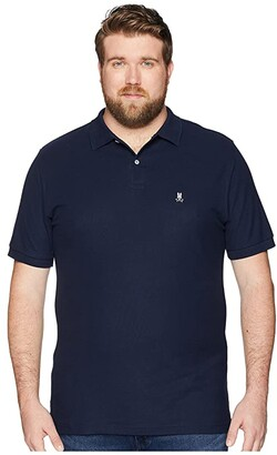 Psycho Bunny Big and Tall Classic Polo (Navy) Men's Clothing