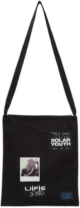 Raf Simons Black Denim Solar Youth Tote Bag