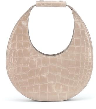 STAUD Moon embossed leather shoulder bag