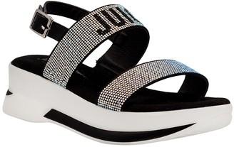 Juicy Couture Idol Embellished Logo Platform Sandal