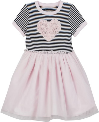 Pippa & Julie Ringer Tee Soutache Lace Tutu Dress