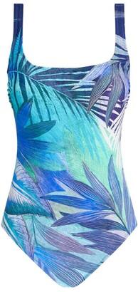 Gottex Palm Print Swimsuit