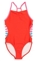 Girl's Tucker + Tate Strappy Sides One-Piece Swimsuit