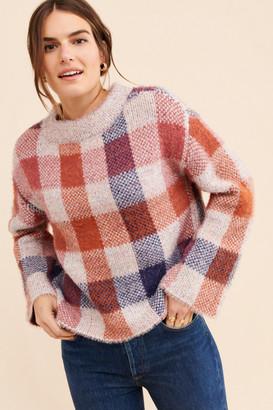 ModCloth Fuzzy Plaid Sweater