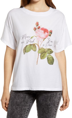 Project Social T Roses Are Pink Graphic Tee